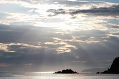 Słońce promienie Fotografia Stock