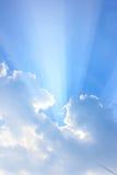 Słońce promienie Obraz Royalty Free