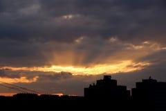 Słońce promienie obraz stock