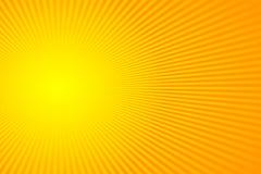Słońce promienie, sunburst na kolorze żółtym i pomarańczowy koloru tło, Wektorowy ilustracyjny lata tła projekt fotografia stock