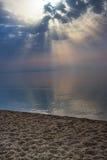 Słońce promienieje bóg promienie światło Fotografia Stock