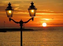 Słońce przy wschodem słońca Obrazy Stock