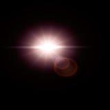 Słońce racy obiektywu racy skutek Obraz Royalty Free