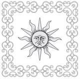 słońce ramowy wektor royalty ilustracja