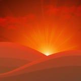 Słońce rises2 Zdjęcie Royalty Free