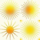 Słońce setu wzór Fotografia Royalty Free