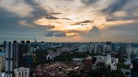 Słońce sety na mieście Below Przy pinaklem Duxton Zdjęcia Royalty Free