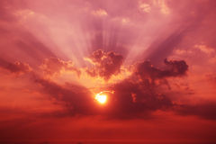 słońce shining zdjęcie stock