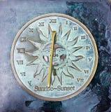 Słońce stary zegar Obraz Royalty Free