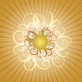 słońce swirly ilustracja wektor