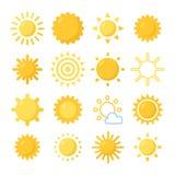 Słońce symbole ustawiający Obraz Royalty Free