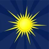 Słońce symbolu ilustracja Zdjęcia Royalty Free