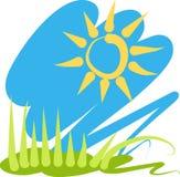 słońce trawy royalty ilustracja