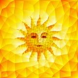 Słońce twarz royalty ilustracja