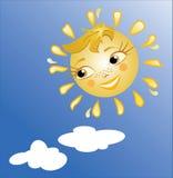 słońce uśmiecha się royalty ilustracja