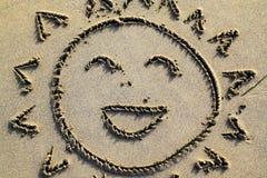 słońce uśmiecha się Obraz Royalty Free