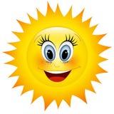 słońce uśmiecha się ilustracji