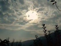 Słońce ustalona scena obraz stock
