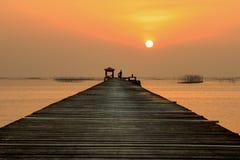 Słońce ustalony denny widok Zdjęcia Royalty Free