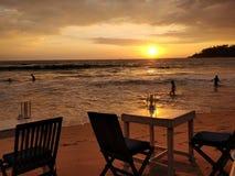 Słońce ustalony Sri Lanka Obrazy Stock
