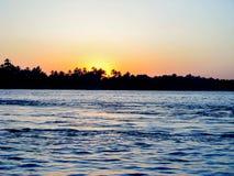 Słońce ustawiający przy Nil Obraz Royalty Free
