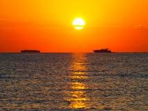Słońce wędrówka Zdjęcia Royalty Free