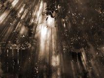 Słońce w dymu czarny white Zdjęcia Stock