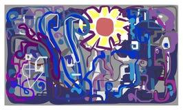 Słońce w przemysłowym mieście zaszczepka ilustracja wektor