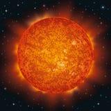 Słońce w przestrzeni Zdjęcie Royalty Free