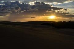 SŁOŃCE W pustyni Obraz Royalty Free