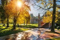Słońce w Tsaritsyno parku Obraz Stock