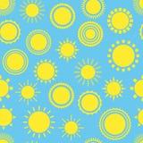 Słońce wektoru bezszwowy wzór Obrazy Royalty Free