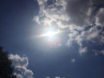 Słońce wybuch Zdjęcia Royalty Free