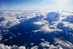 Słońce wybuch Nad duża wysokość Obłocznym bankiem zdjęcia royalty free