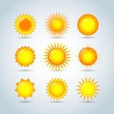 Słońce wybuchu gwiazdy loga ikony Słońce gwiazda, lato, natura, niebo, lato Światła słonecznego słońca logo Słońce ikona Słońce l ilustracji