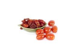 słońce wysuszeni domowej roboty pomidory Fotografia Stock