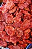 słońce wysuszeni pomidory Obrazy Stock