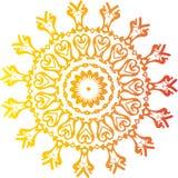Słońce wzór Ilustracji