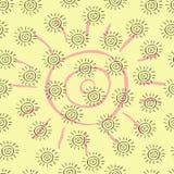 Słońce wzór Zdjęcia Royalty Free