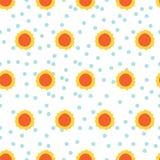 Słońce wzór w kropki tle ilustracji