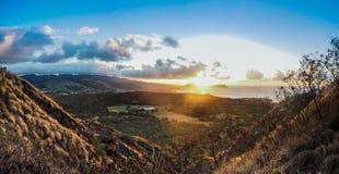 Słońce wzrasta nad Hawaje fotografia royalty free
