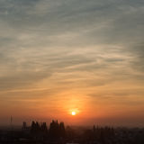 Słońce wzrost antyczny miasteczko obraz stock