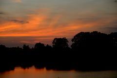 Słońce wzrost i słońca ustalony tło Fotografia Stock