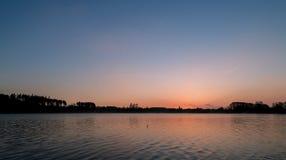 Słońce wzrost nad morzem Zdjęcia Stock