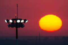 Słońce wzrosta wierza Obraz Stock