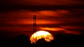 Słońce wzrosty w ranek łunie zbiory