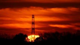 Słońce wzrosty w ranek łunie zdjęcie wideo