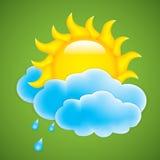 Słońce z chmurą Zdjęcie Royalty Free