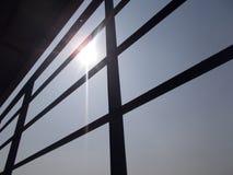 Słońce z mój domowym podwórkem Obrazy Stock