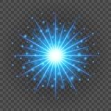 Słońce z obiektywu racą zaświeca szablonu i wektoru tło Specjalnego skutka Rozjarzeni promienie Obraz Royalty Free